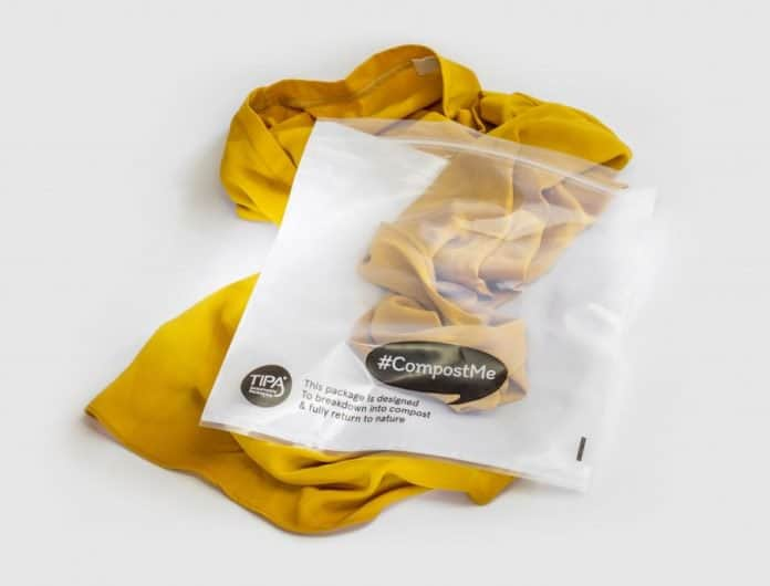 TIPA white & transparent CompostMe packaging