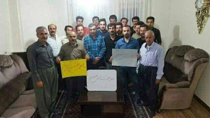 The people of Damavand show their support for the workers of Haft Tapeh