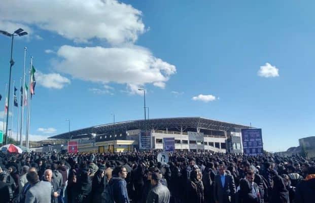 demonstration at azad university tehran