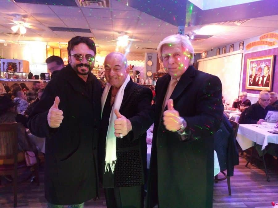 dixie dooley with michael leonetti and pete allman at my mothers house italian restaurant.
