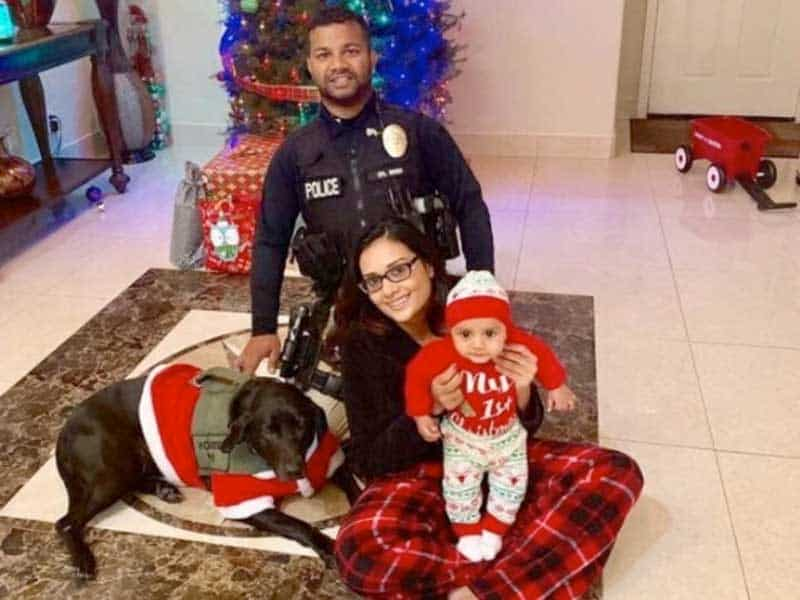 officer ronil singh family.