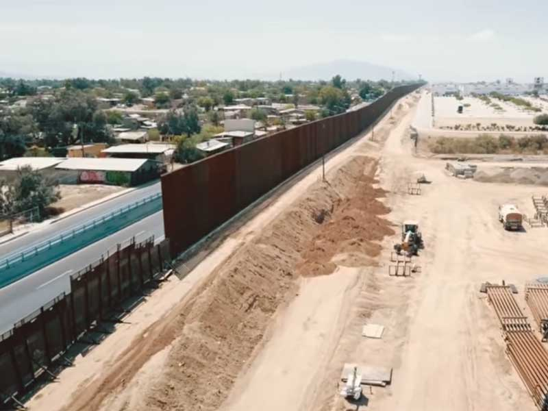 replacing the calexico-mexicali border wall