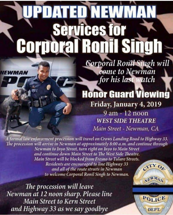 ronil singh honor guard poster