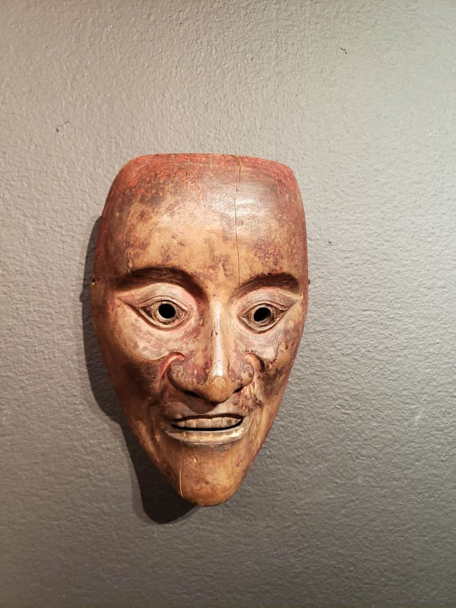 Noh Mask, Tannaka Co. Ltd, Osaka, Japan. 2019 LA Art Show, photo credit: (c) 2019, Bruce Edwin.