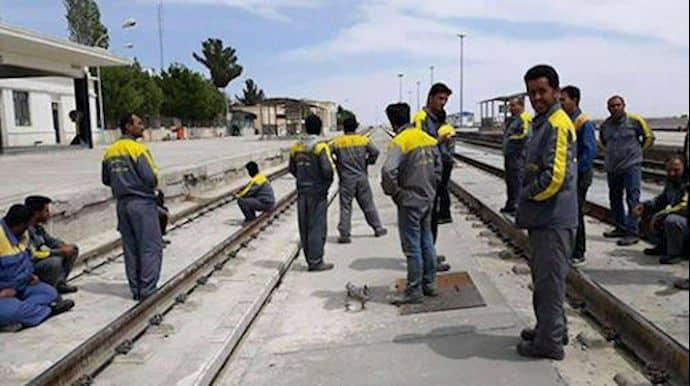 damghan railway workers protest