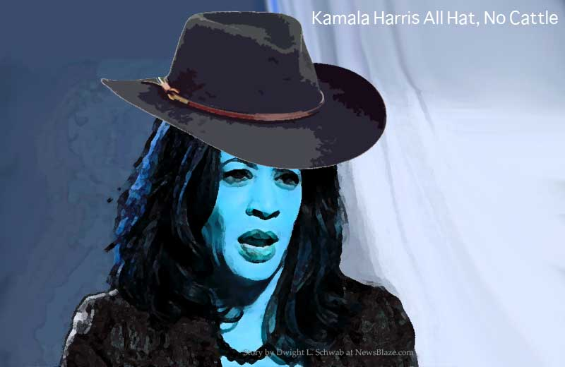 kamala harris all hat no cattle