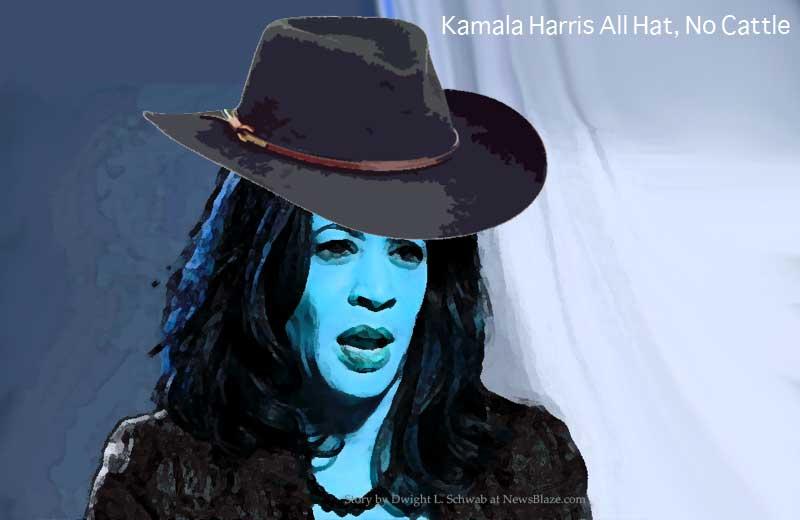 kamala harris all hat no cattle