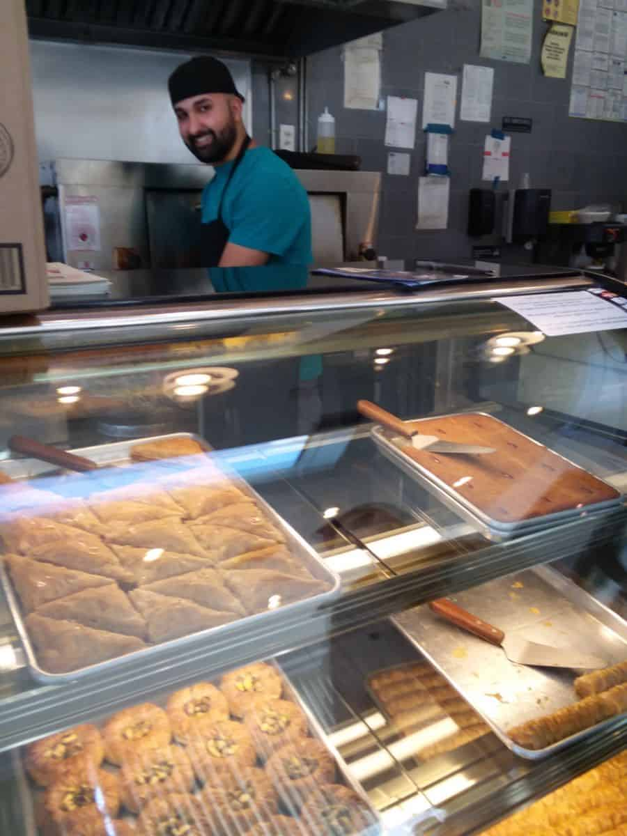 Royal Falafel Shawarma counter