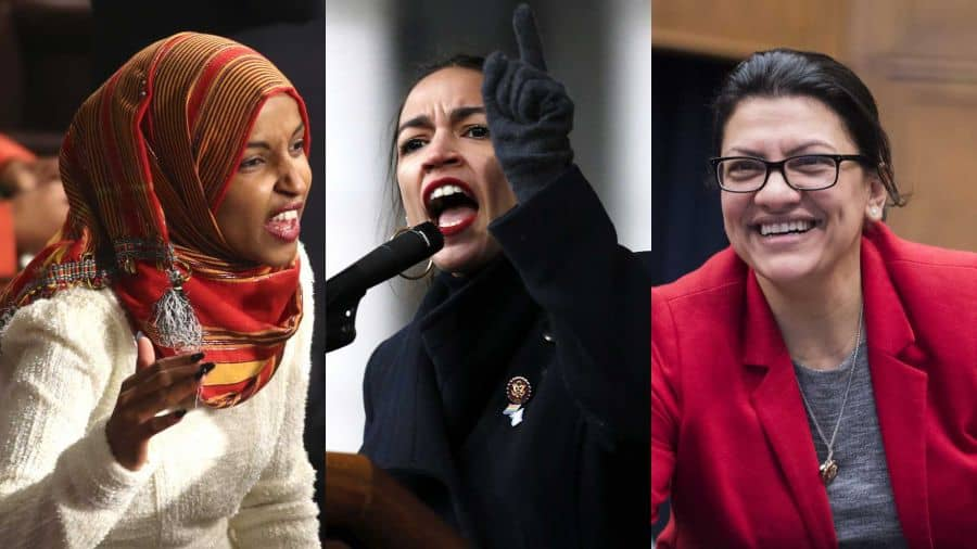 Ocasio-Cortez and Her Hypocrite Freshman Buddies, Jew haters in Congress L-Onar, Ocasio-Cortez, Tlaib