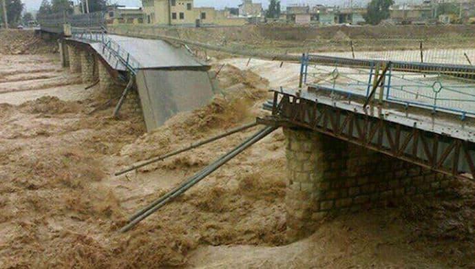iran bridge destroyed by deadly flood.