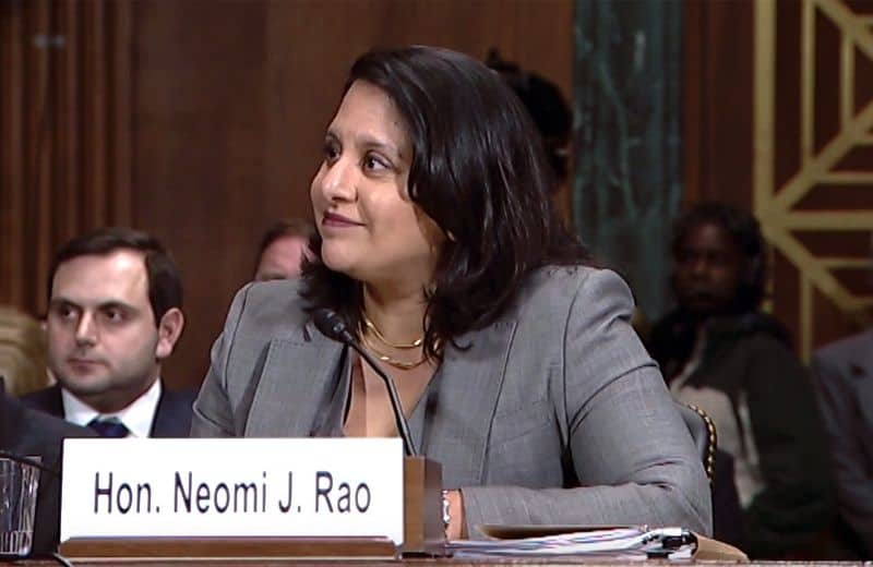 neomi rao headed for federal judiciary