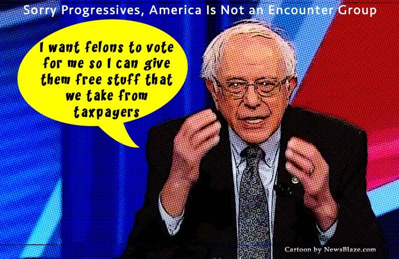 bernie sanders felon vote