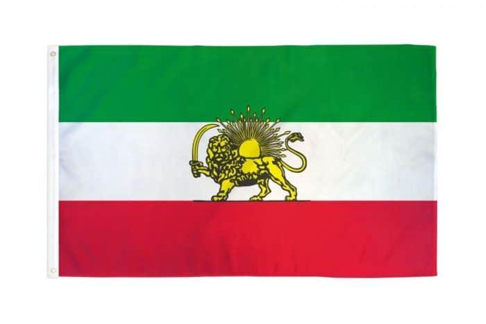 Flag of Iran, 1907-1979