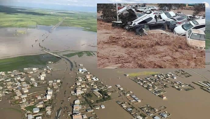 iran city flooded