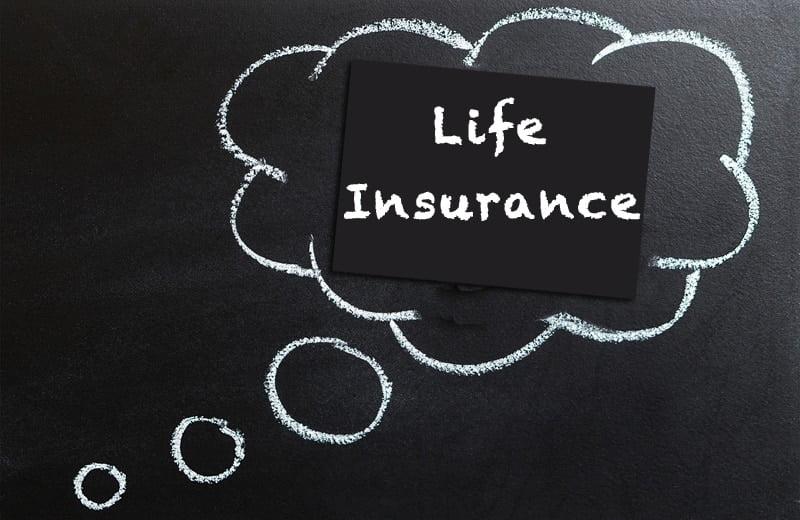 life insurance chalkboard