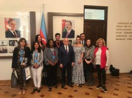 California delegation with the Chairman of the Republic of Azerbaijan State Committee team