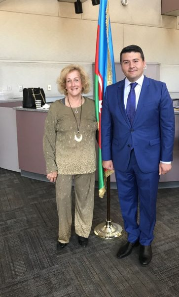 Mr. Nasimi Aghayev, Azerbaijan Consul General, West Coast USA with the writer