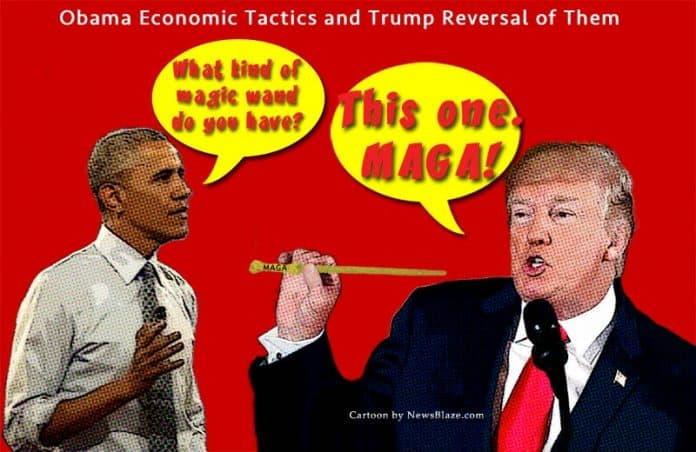 obama economic tactics and trump reversal of them