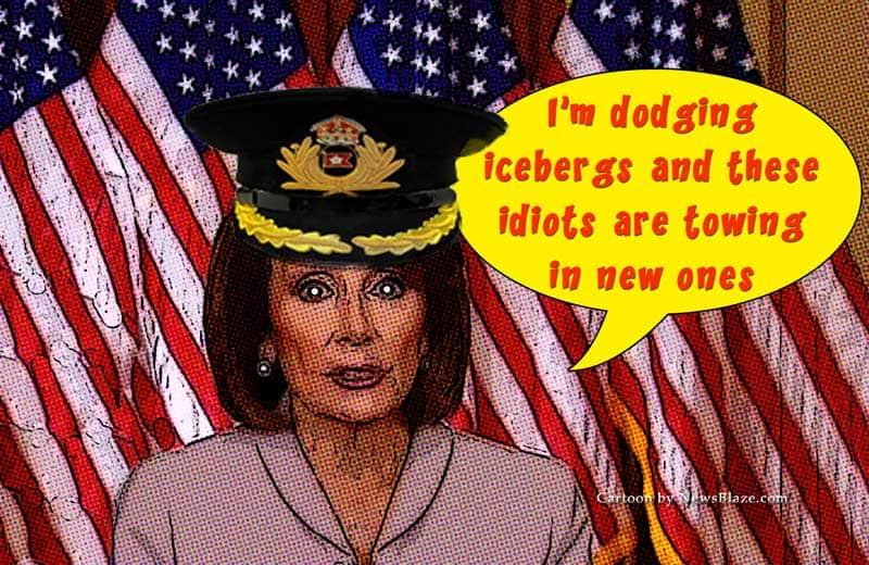Nancy Pelosi dodging icebergs