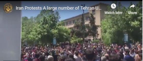 tehran university protest.