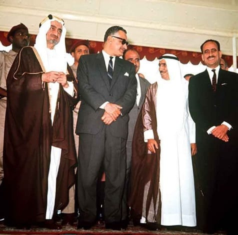 Khartoum Arab Summit 1967 with Gamal Abdel Nasser in center