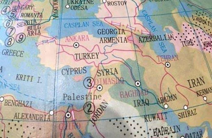 palestinian state world map
