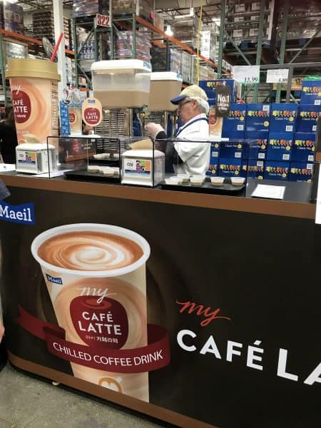 Costco My Café Latte display. Photo by Nurit Greenger.