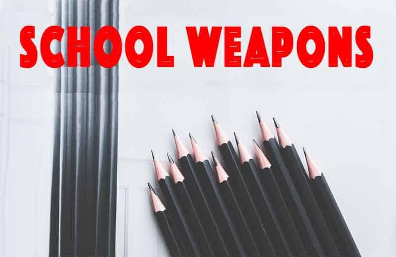 school weapons. Image by Karolina Grabowska from Pixabay, edited by NewsBlaze.