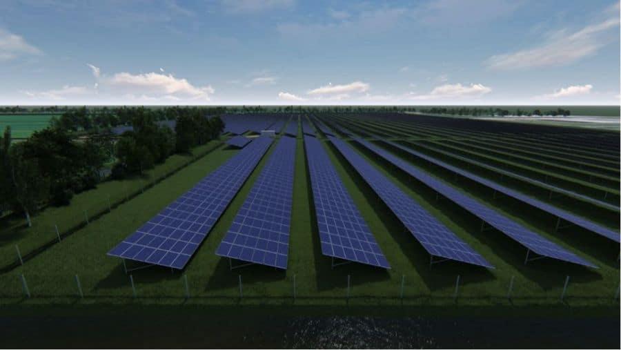 a solar park 3-D image
