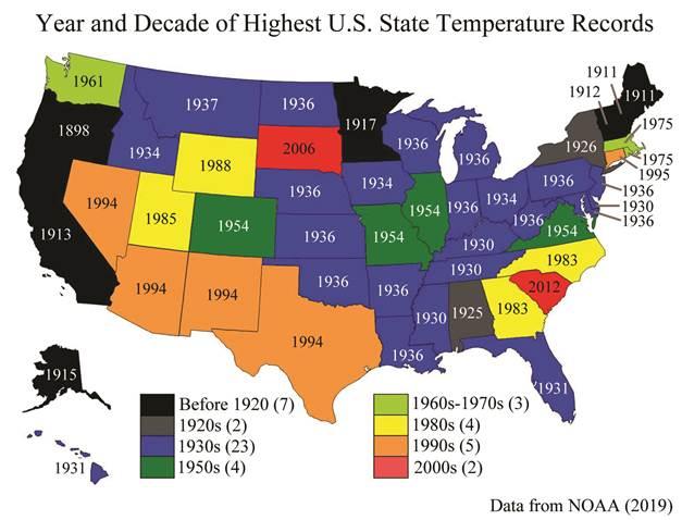 us temperature records
