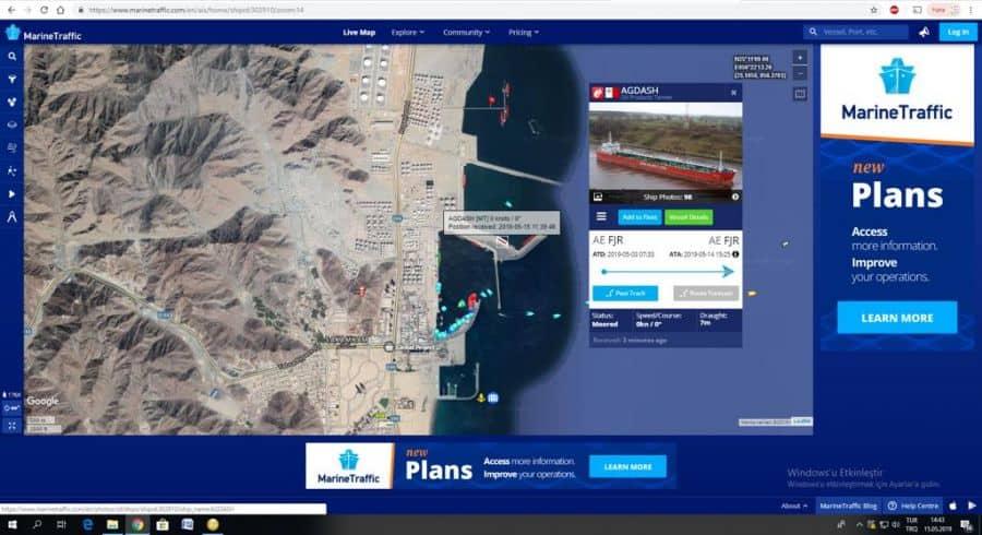 marine traffic shipid 302910 20190515