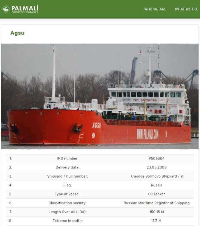russia flagged tanker 9503304