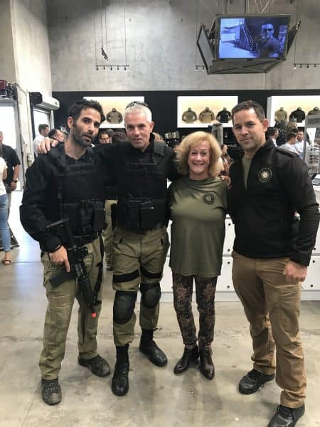From Left - Yonatan Farber Caliber 3 USA Chief Training Instructor, Sharon Gat Caliber 3 Founder, Nurit Greenger the writer of this article, Philip Moore Caliber3USA General Manager