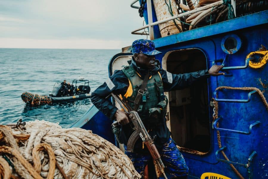 gambia navy board fishing vessel