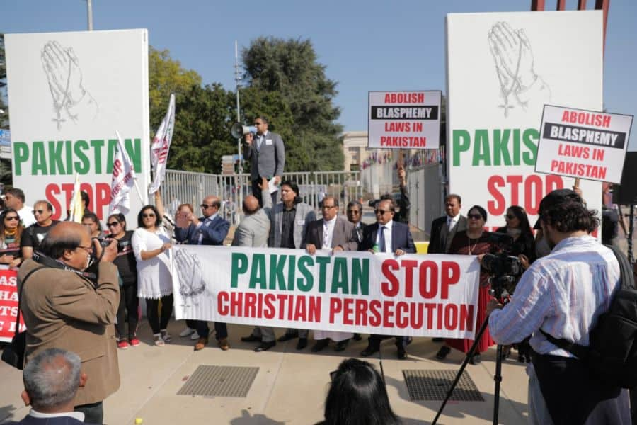 Blasphemy law protest by Christians
