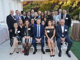 IDB team, front row 2nd from right, Mrs. Kiyoun Kim, EVP, IDB California Regional Manager, next to her Uri Levin, President and CEO, Israel Discount Bank group