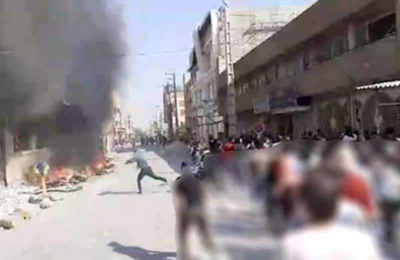 behbahan uprising - burning banks.