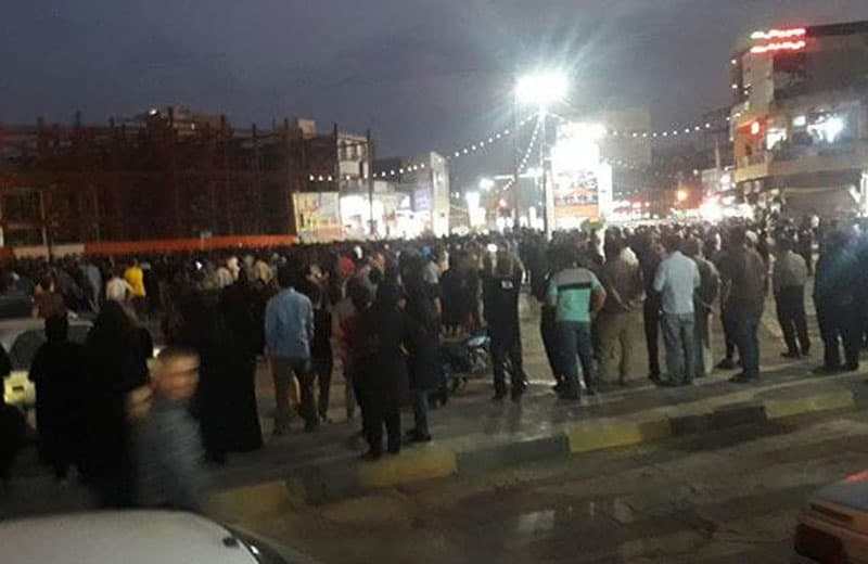 gathering in city square. Cropped image: mojahedin.org