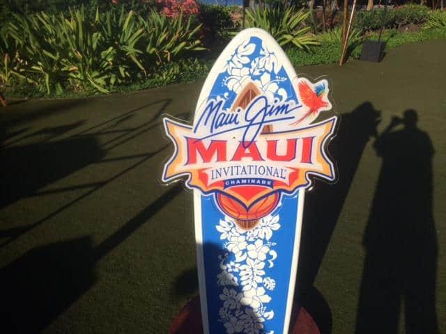 Maui Jim 2019 logo surfboard Photo: Raymond Rolak
