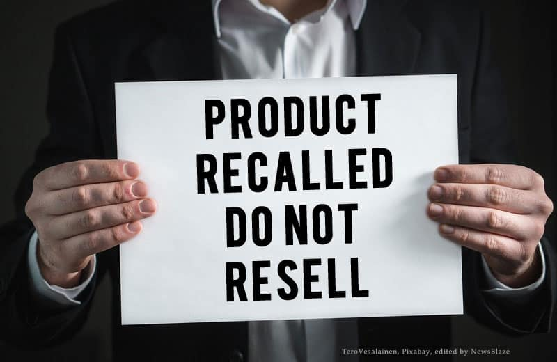 product recalled do not resell