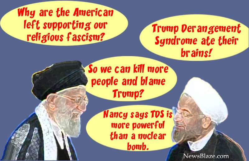 khamenei rouhani american left. Cartoon by NewsBlaze.com