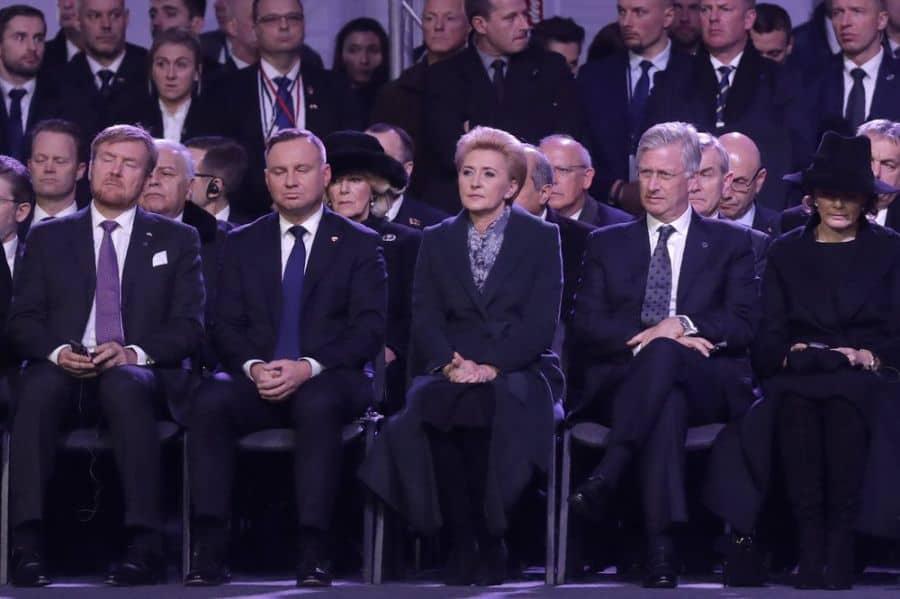 polands pre andrzej duda first lady agata kornhauser duda 75 auschwitz
