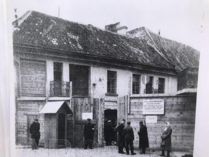Vilnius-Vilna entrance to Ghetto, 1941 - Photo credit Nurit Greenger