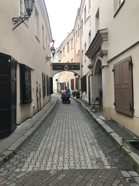 Preserving the past in Vilnius-Vilna, Ghetto street after the Holocaust, today, see the similarity - photo credit Nurit Greenger