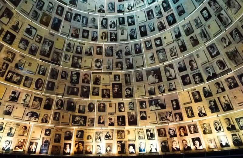 yad vashem photo display of murdered jews