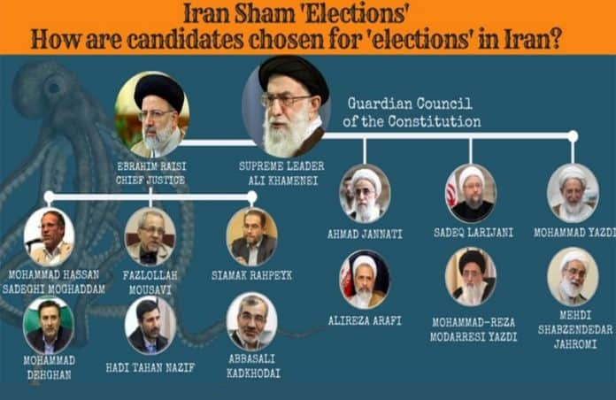 iran sham elections illustration