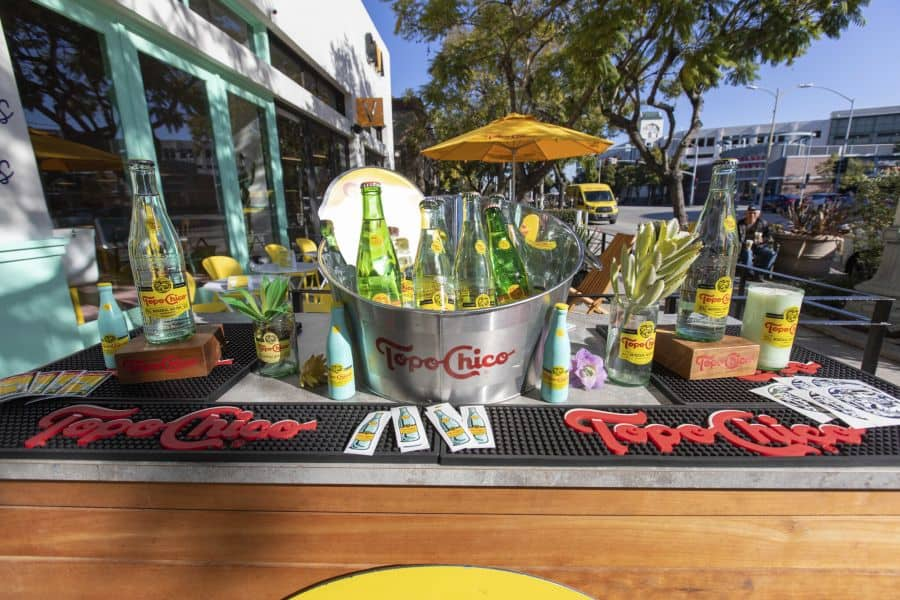 Topo Chico. Photo by Chicas Tacos