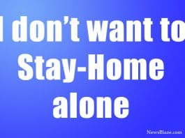 I don't want to stay home alone. image by NewsBlaze