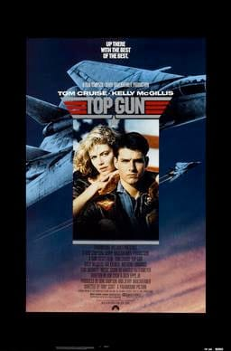 Top Gun poster. fair use, Parmount Pictures.