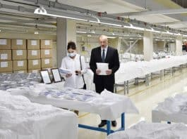 Azerbaijan opens face mask factory